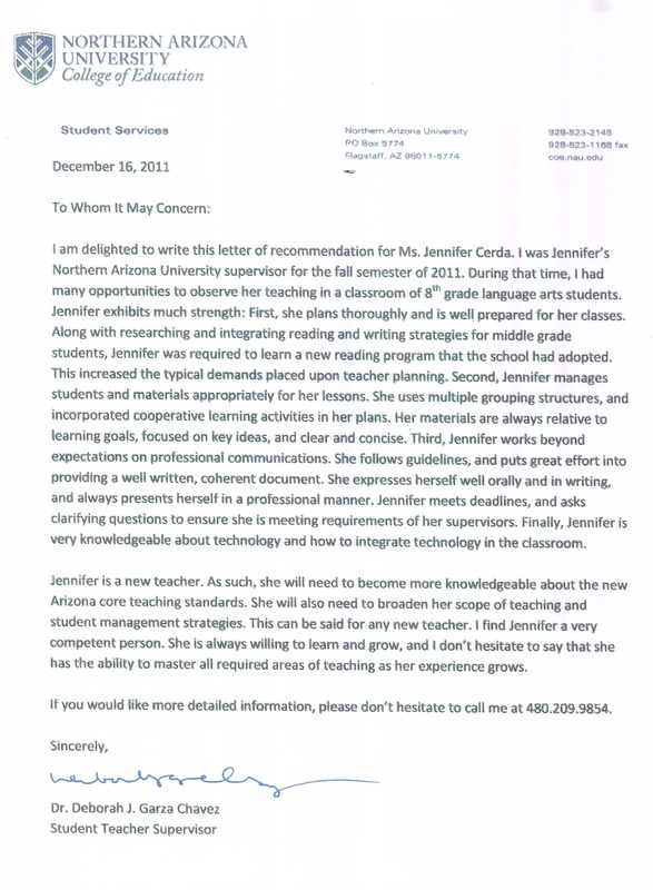 Resume References Letters Of Recommendation Professional Portfolio